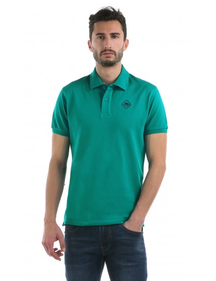 HB COLOR POLO Tropicalgreen-Navy