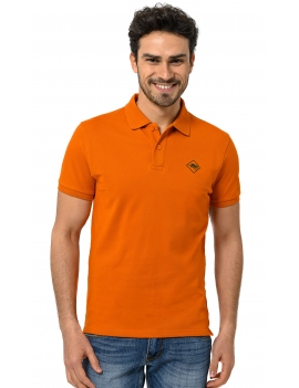 HB COLOR POLO Orange-Darkgreen