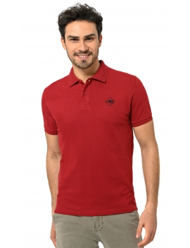 HB COLOR POLO Scarlet-Black