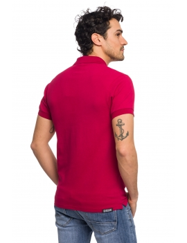 HB POLO Berryred-Sand