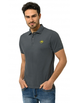 HB POLO Carbongrey-Yellow